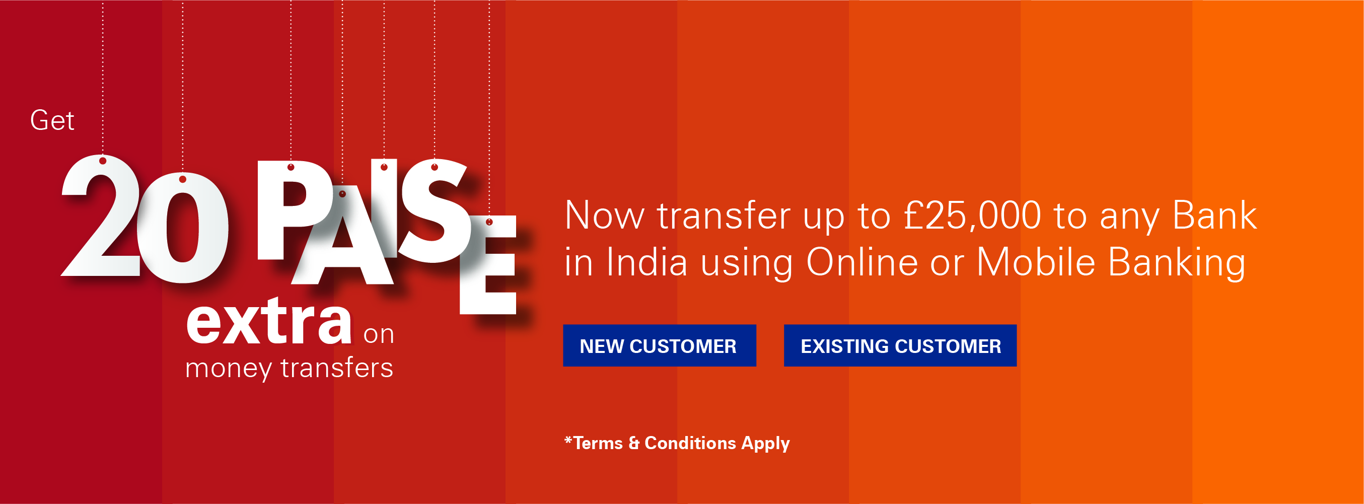 Get 20 Paise Extra on Your Money Transfer to India
